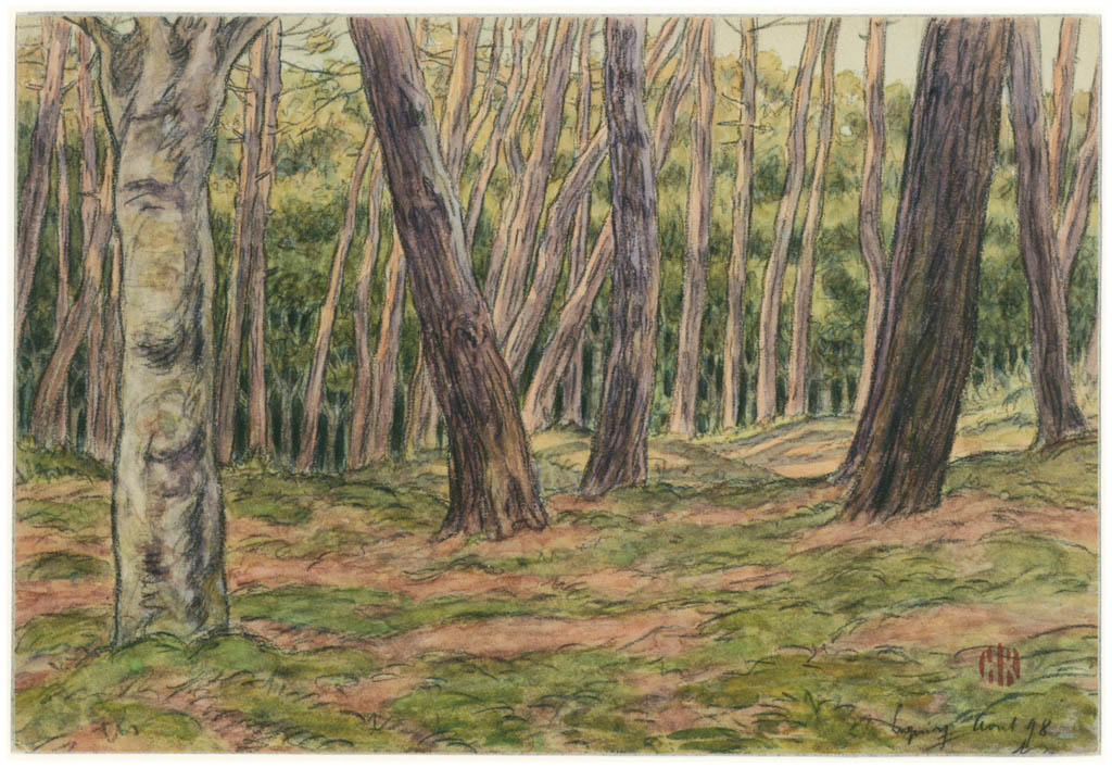 Henri Rivière – Loguivy, août 1898 [from Maître français de l ukiyo-e Henri Rivière]