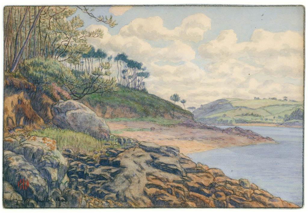 Henri Rivière – Loguivy, juillet 1900 [from Maître français de l ukiyo-e Henri Rivière]