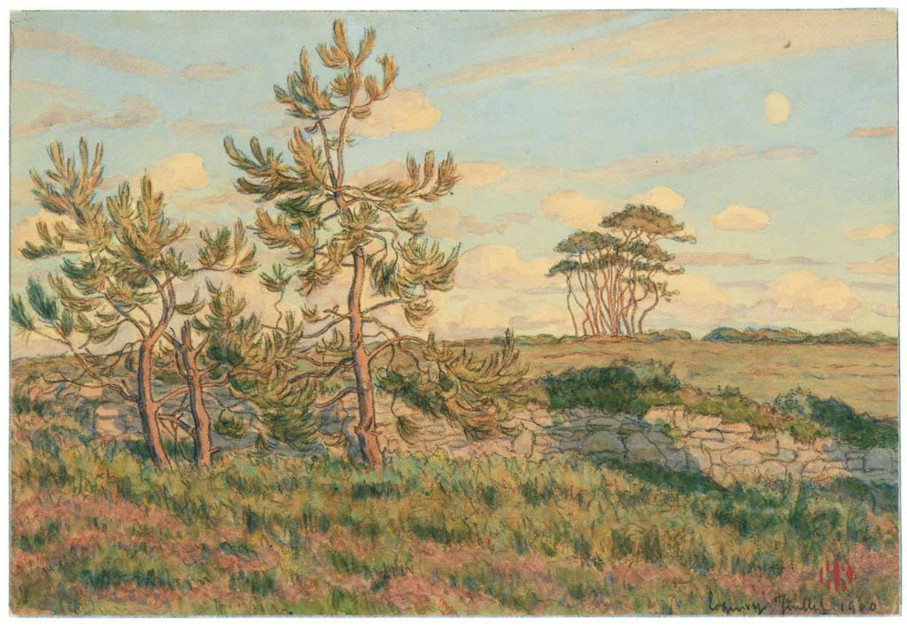 アンリ・リヴィエール – ロギヴィ、1900年7月(ブルターニュ風景) [フランスの浮世絵師 アンリ・リヴィエール展より] パブリックドメイン画像