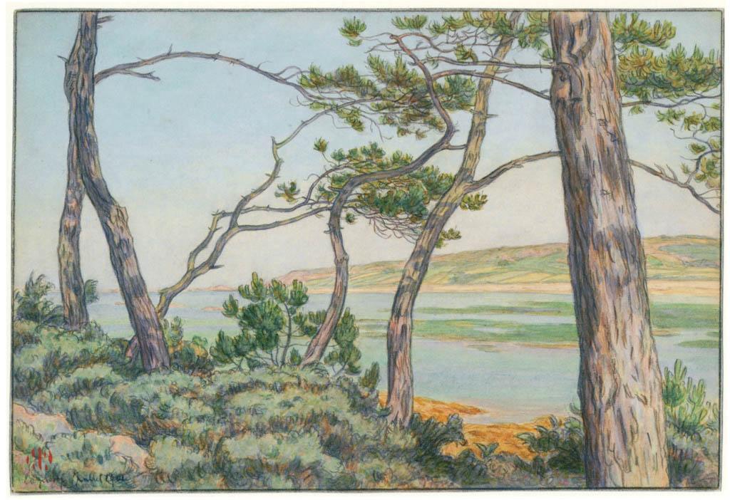 Henri Rivière – Loguivy, juillet 1901 [from Maître français de l ukiyo-e Henri Rivière]