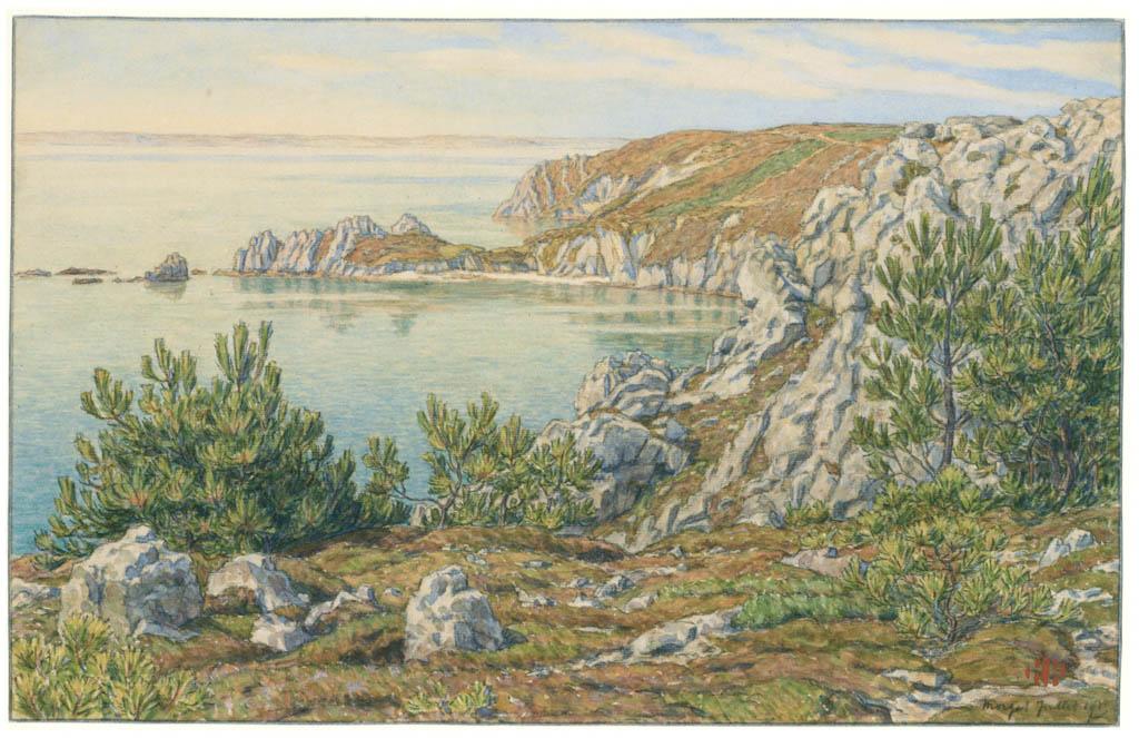 アンリ・リヴィエール – モルガット、1903年7月(ブルターニュ風景) [フランスの浮世絵師 アンリ・リヴィエール展より] パブリックドメイン画像