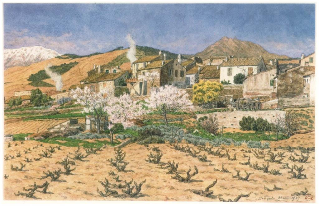 アンリ・リヴィエール – パニュルス、1927年3月(プロヴァンス風景) [フランスの浮世絵師 アンリ・リヴィエール展より] パブリックドメイン画像