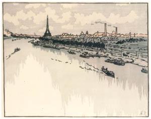 thumbnail Henri Rivière – Du Viaduc d'Auteuil [from Maître français de l ukiyo-e Henri Rivière]