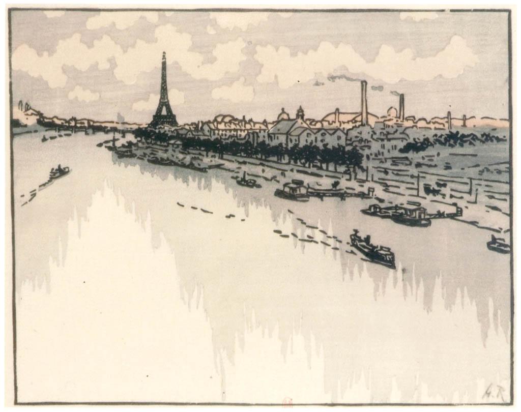 Henri Rivière – Du Viaduc d'Auteuil [from Maître français de l ukiyo-e Henri Rivière]