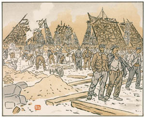 thumbnail Henri Rivière – Les Chantiers de la tour Eiffel [from Maître français de l ukiyo-e Henri Rivière]