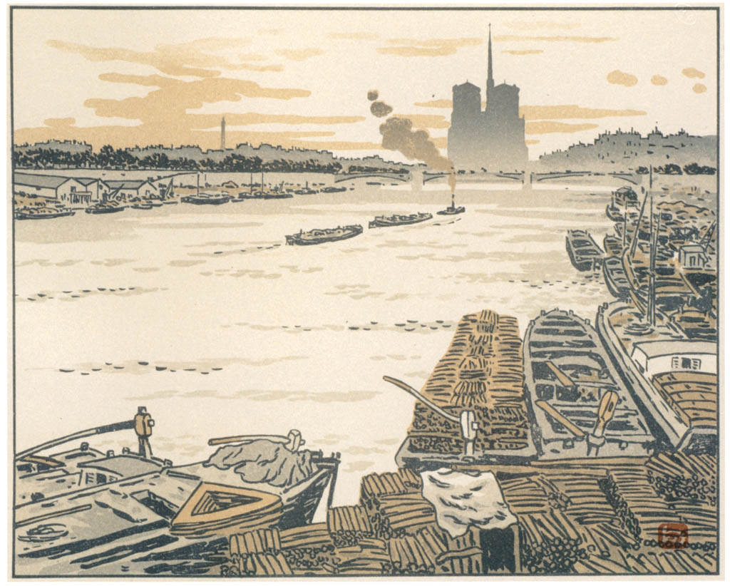 Henri Rivière – Du pont d'Austerlitz [from Maître français de l ukiyo-e Henri Rivière]