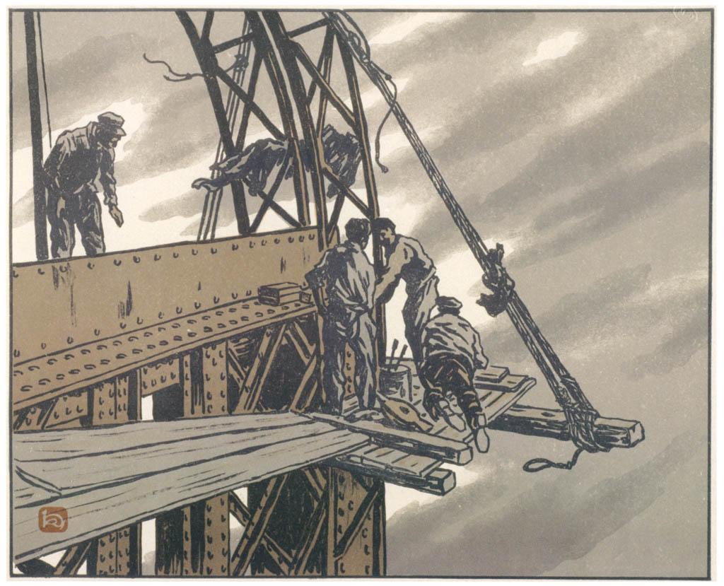 Henri Rivière – En haut de la tour [from Maître français de l ukiyo-e Henri Rivière]